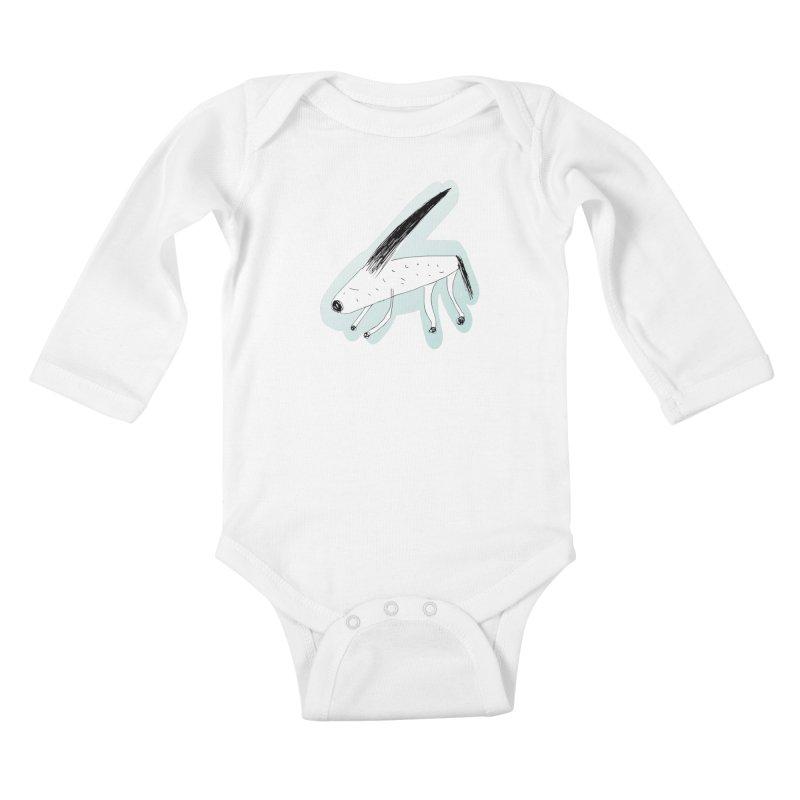 meonk Kids Baby Longsleeve Bodysuit by errithethird