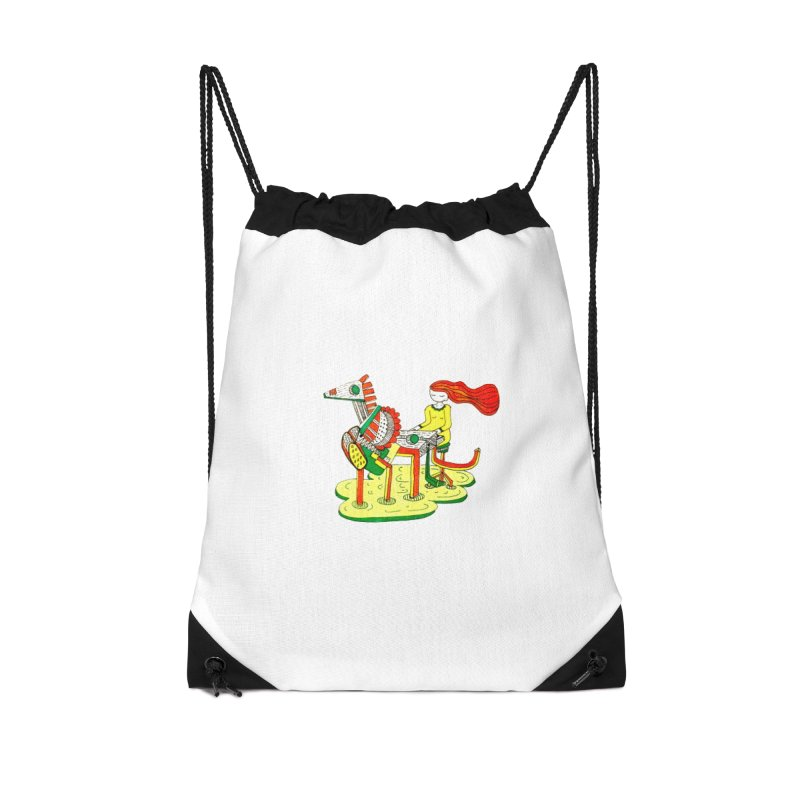 Pianoku Kudaku Accessories Drawstring Bag Bag by errithethird