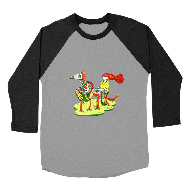 Pianoku Kudaku Men's Baseball Triblend Longsleeve T-Shirt by errithethird