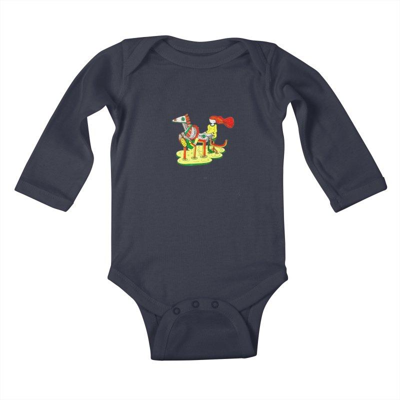 Pianoku Kudaku Kids Baby Longsleeve Bodysuit by errithethird