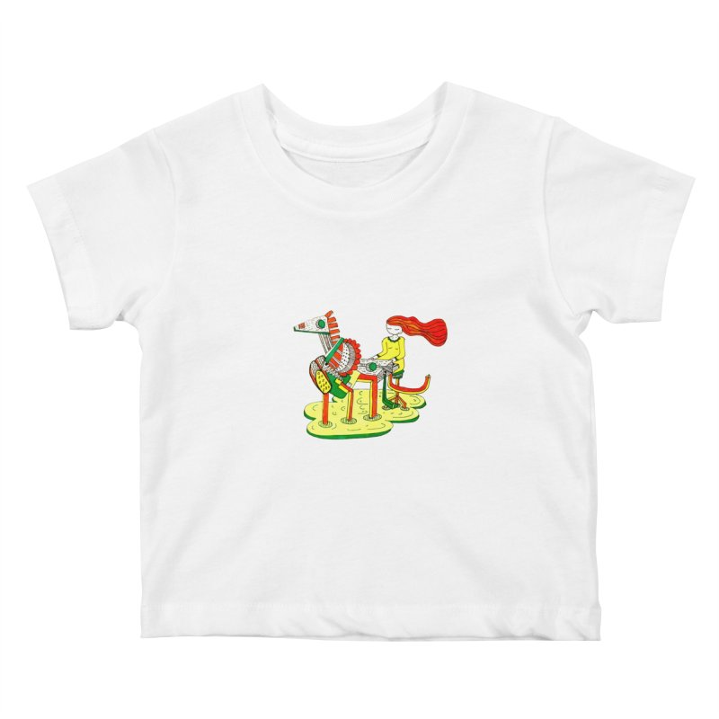 Pianoku Kudaku Kids Baby T-Shirt by errithethird