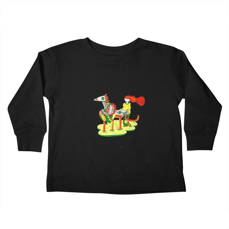 Pianoku Kudaku Kids Toddler Longsleeve T-Shirt by errithethird