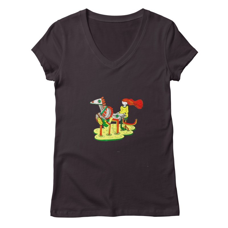 Pianoku Kudaku Women's Regular V-Neck by errithethird