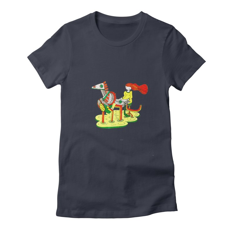 Pianoku Kudaku Women's Fitted T-Shirt by errithethird