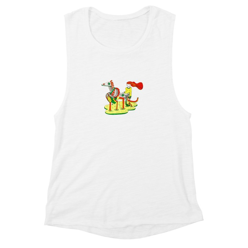 Pianoku Kudaku Women's Muscle Tank by errithethird