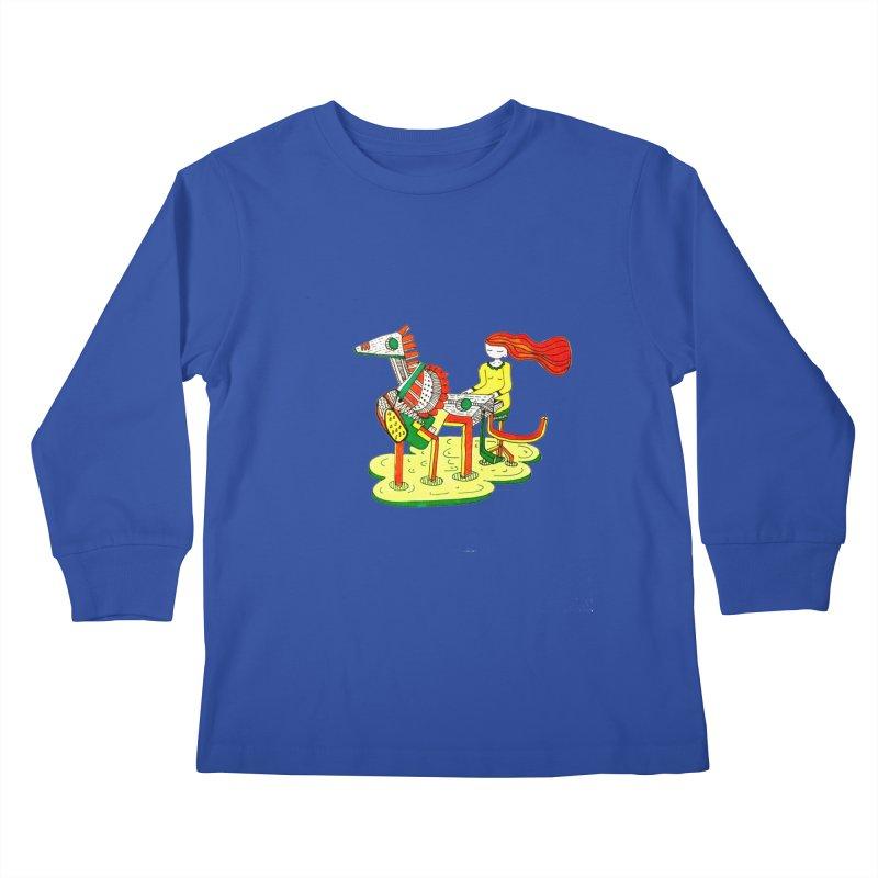 Pianoku Kudaku Kids Longsleeve T-Shirt by errithethird