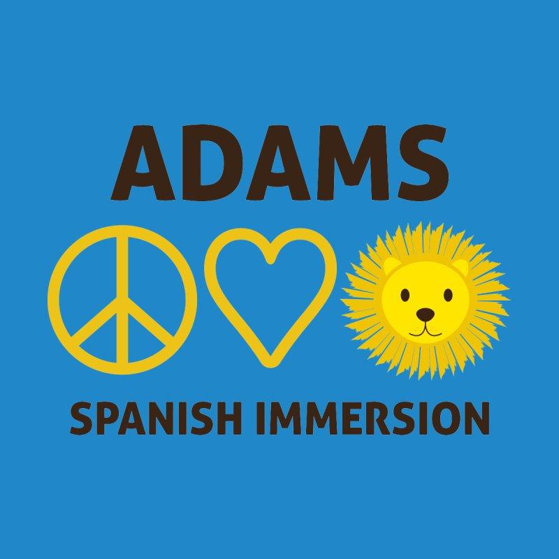 Peace Love Adams Dark Kids Pullover Hoody by Adams Spanish Immersion School Store