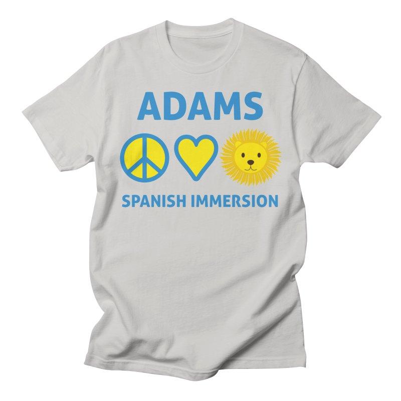 Peace Love Adams Light Men's T-Shirt by Adams Spanish Immersion School Store
