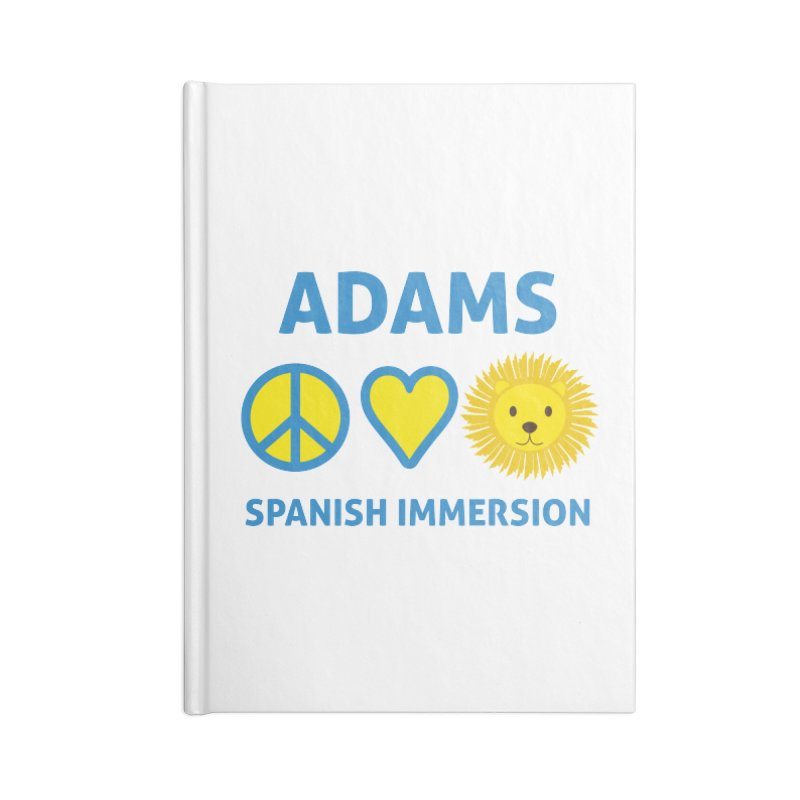 Peace Love Adams Light Accessories Notebook by Adams Spanish Immersion School Store