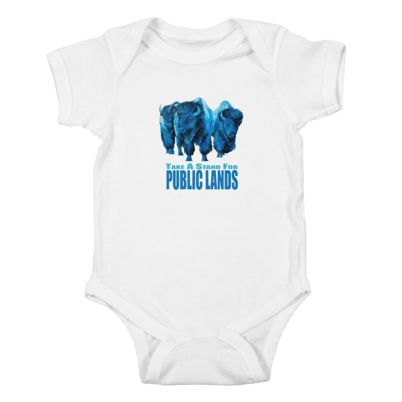 Take a Stand for Public Lands Kids Baby Bodysuit by Etch's Sketches