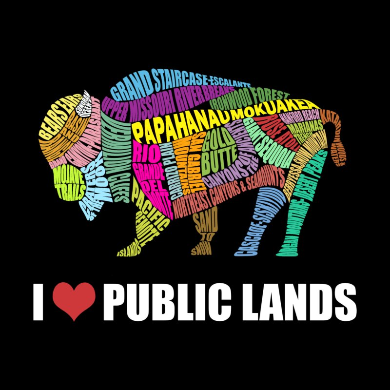 I Love Public Lands Men's T-Shirt by Etch's Sketches