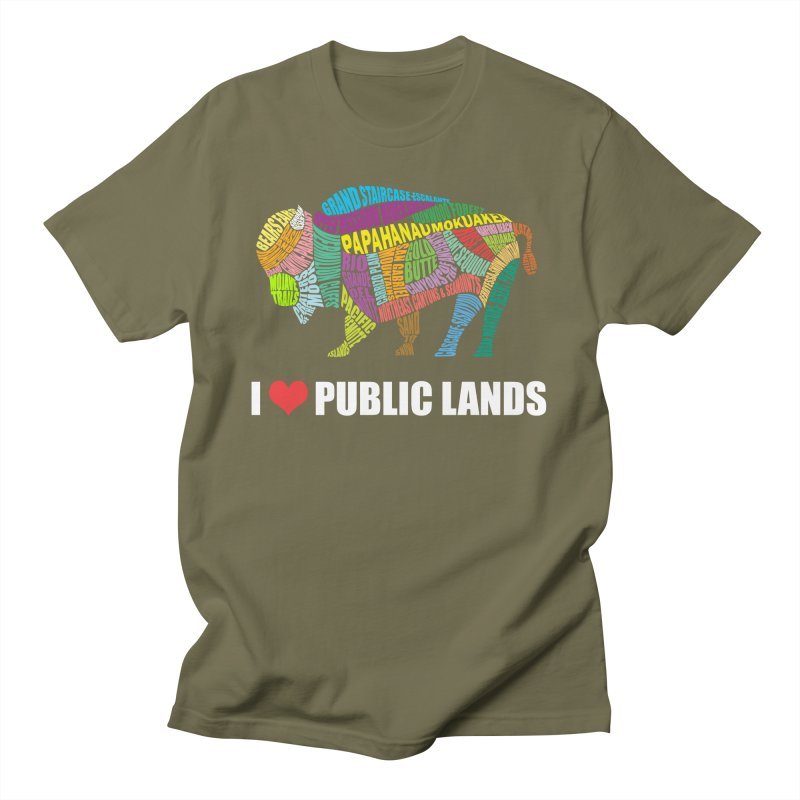 I Love Public Lands Men's T-Shirt by Etch's Sketches