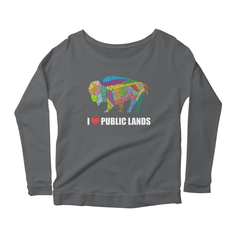 I Love Public Lands Women's Longsleeve T-Shirt by Etch's Sketches