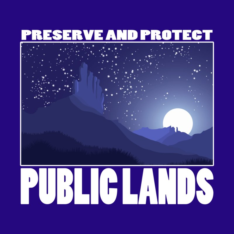 Preserve and Protect Public Lands-A Night at Bears Ears Men's T-Shirt by Etch's Sketches