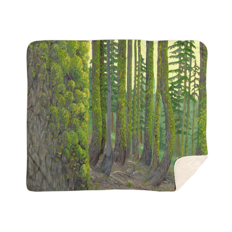 Green as a Forest Home Blanket by Etch's Sketches