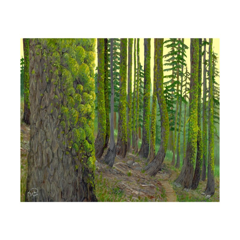 Green as a Forest Home Rug by Etch's Sketches