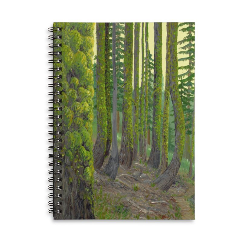 Green as a Forest Accessories Notebook by Etch's Sketches