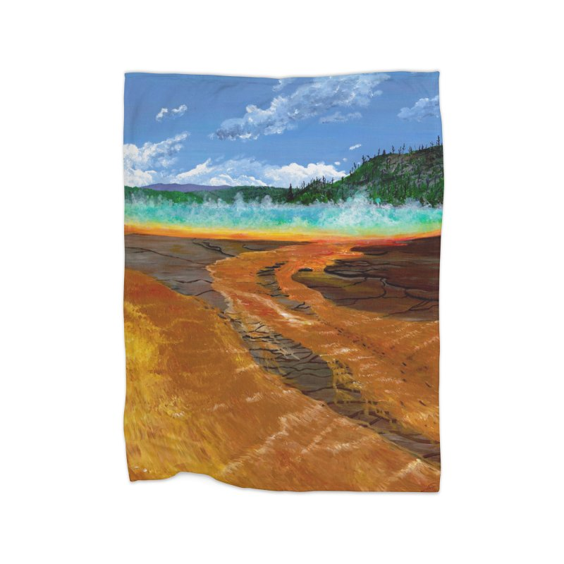 Prismatic Colors Home Blanket by Etch's Sketches