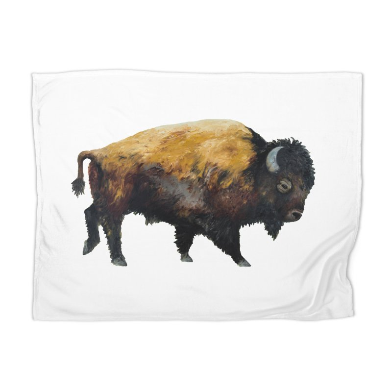 Lone Bison Home Blanket by Etch's Sketches
