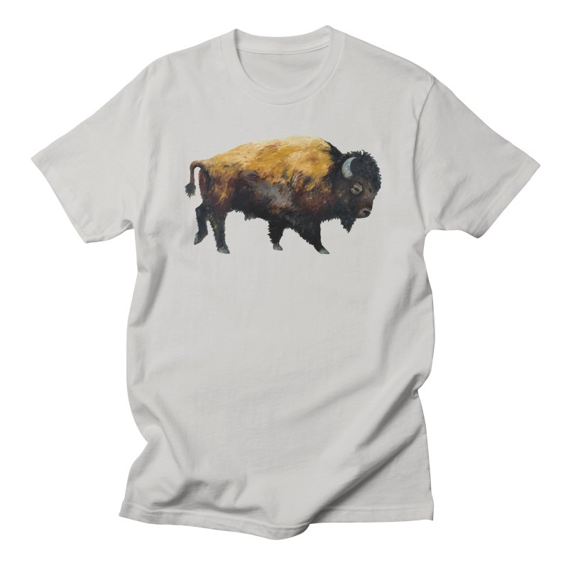 Lone Bison Men's T-Shirt by Etch's Sketches