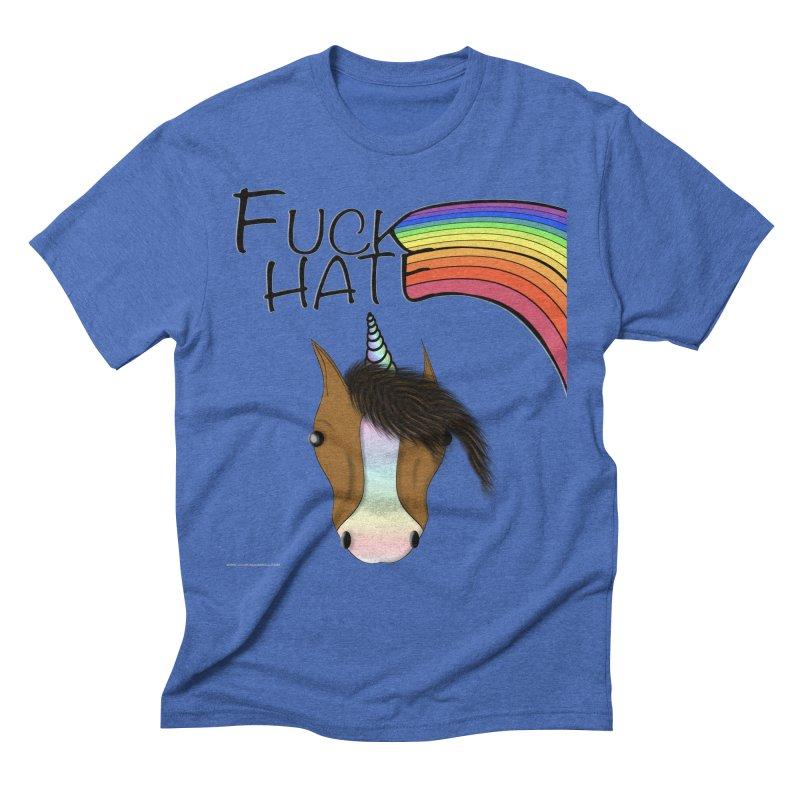 Fuck Hate Men's T-Shirt by Every Drop's An Idea's Artist Shop