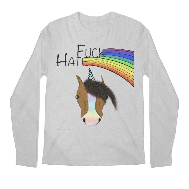Fuck Hate Men's Regular Longsleeve T-Shirt by Every Drop's An Idea's Artist Shop