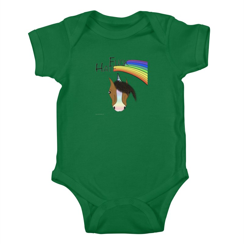 Fuck Hate Kids Baby Bodysuit by Every Drop's An Idea's Artist Shop