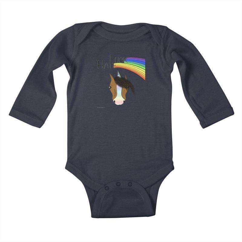Fuck Hate Kids Baby Longsleeve Bodysuit by Every Drop's An Idea's Artist Shop