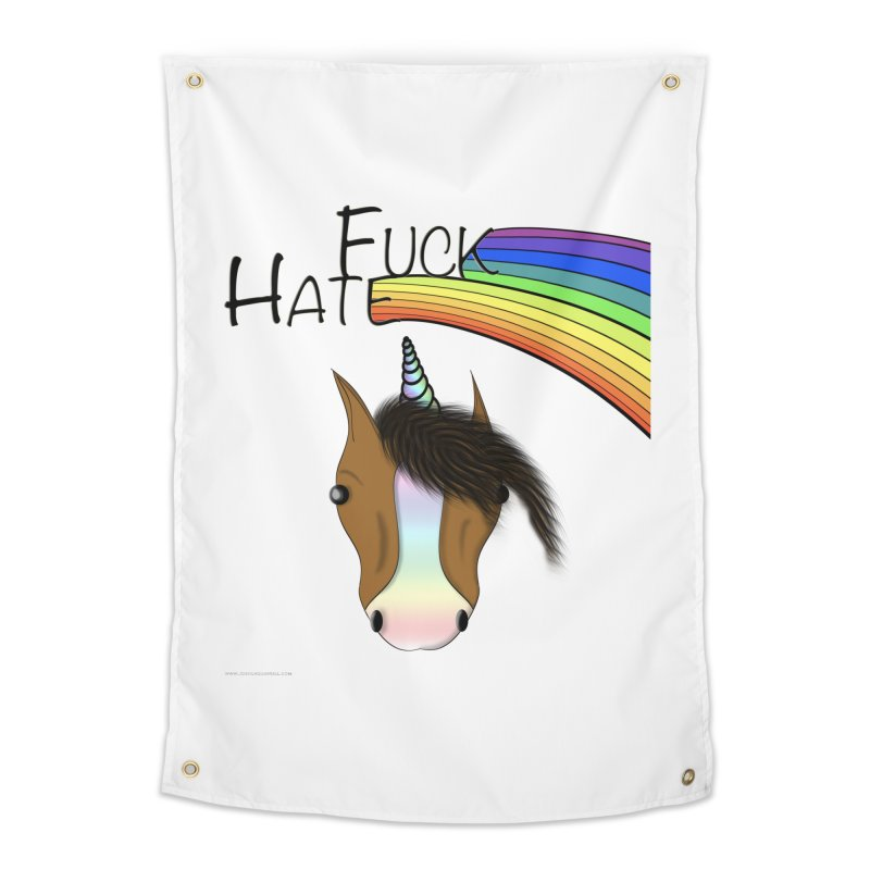 Fuck Hate Home Tapestry by Every Drop's An Idea's Artist Shop