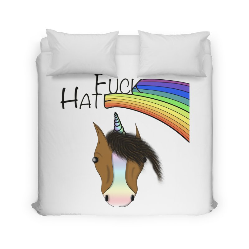Fuck Hate Home Duvet by Every Drop's An Idea's Artist Shop