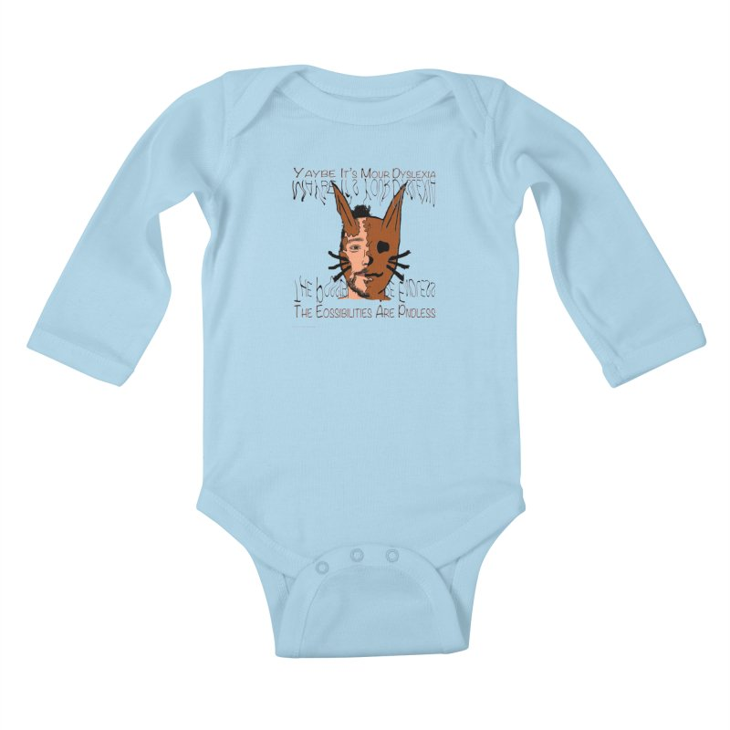Maybe It's Your Dyslexia Kids Baby Longsleeve Bodysuit by Every Drop's An Idea's Artist Shop