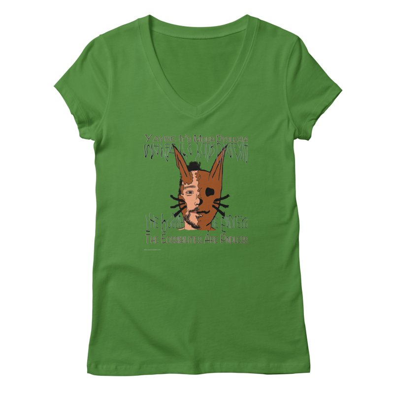 Maybe It's Your Dyslexia Women's V-Neck by Every Drop's An Idea's Artist Shop