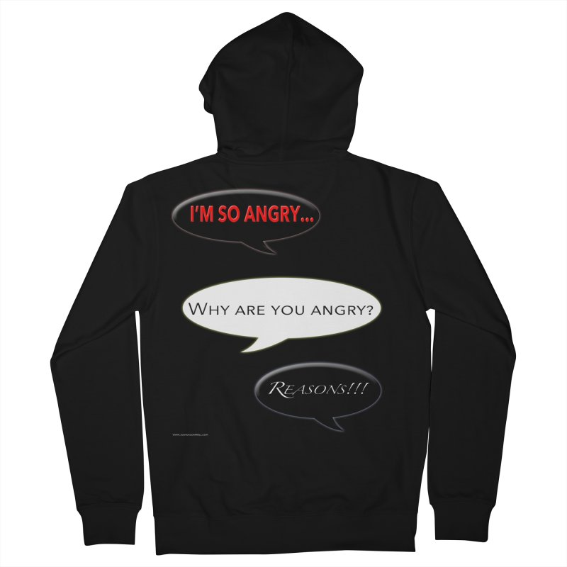 I'm So Angry Men's Zip-Up Hoody by Every Drop's An Idea's Artist Shop