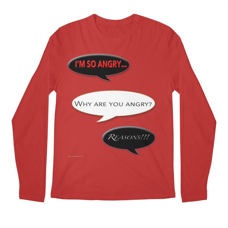 I'm So Angry Men's Regular Longsleeve T-Shirt by Every Drop's An Idea's Artist Shop