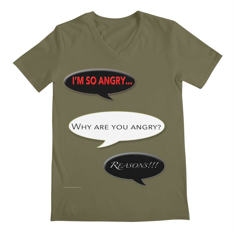 I'm So Angry Men's Regular V-Neck by Every Drop's An Idea's Artist Shop