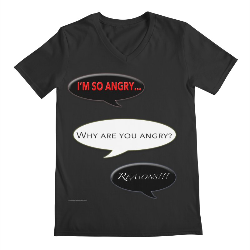 I'm So Angry Men's V-Neck by Every Drop's An Idea's Artist Shop