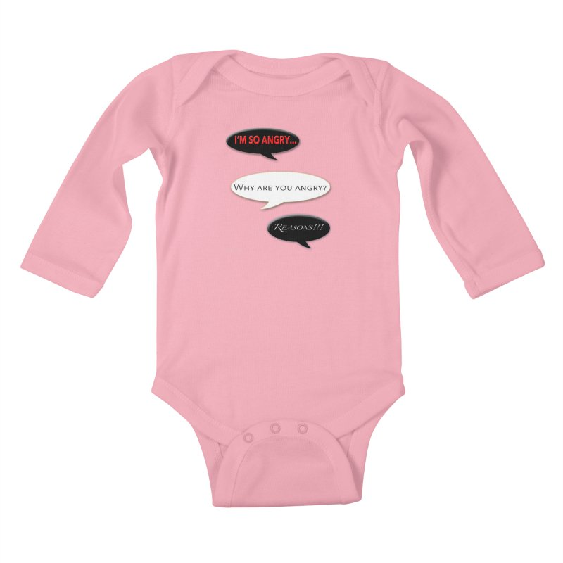 I'm So Angry Kids Baby Longsleeve Bodysuit by Every Drop's An Idea's Artist Shop