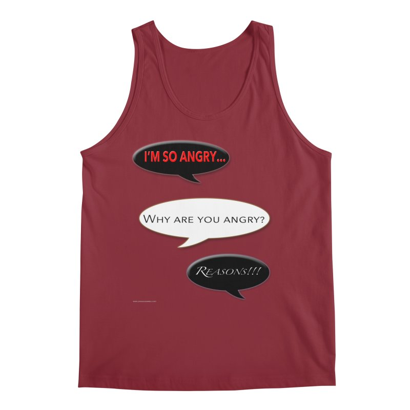 I'm So Angry Men's Tank by Every Drop's An Idea's Artist Shop