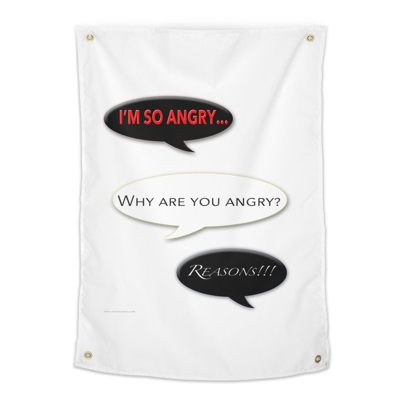 I'm So Angry Home Tapestry by Every Drop's An Idea's Artist Shop