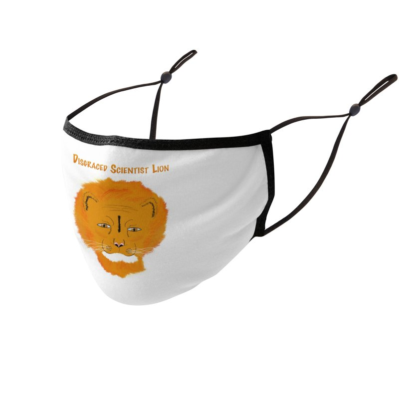 Disgraced Scientist Lion Accessories Face Mask by Every Drop's An Idea's Artist Shop