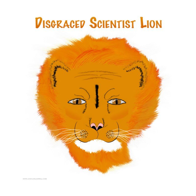 Disgraced Scientist Lion Home Framed Fine Art Print by Every Drop's An Idea's Artist Shop
