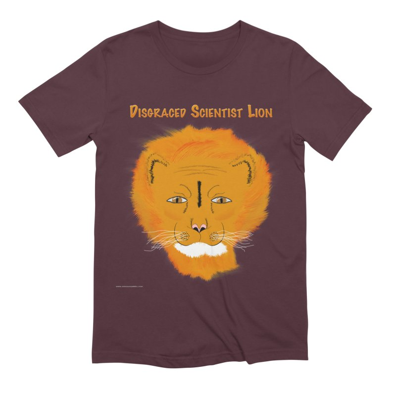 Disgraced Scientist Lion Men's Extra Soft T-Shirt by Every Drop's An Idea's Artist Shop