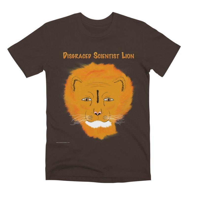 Disgraced Scientist Lion Men's Premium T-Shirt by Every Drop's An Idea's Artist Shop