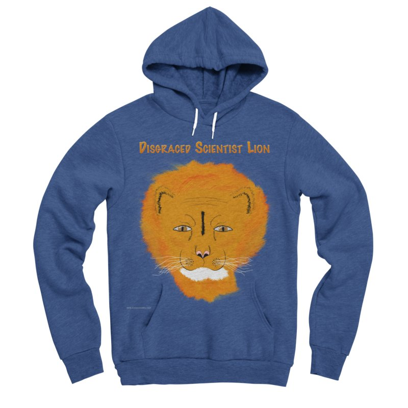 Disgraced Scientist Lion Men's Sponge Fleece Pullover Hoody by Every Drop's An Idea's Artist Shop