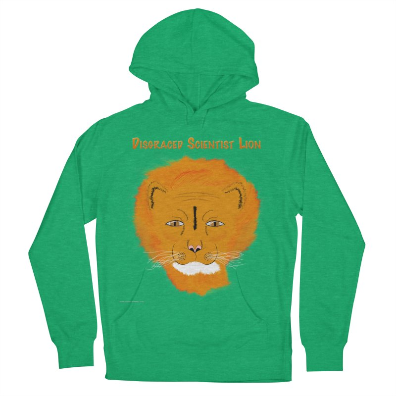 Disgraced Scientist Lion Women's French Terry Pullover Hoody by Every Drop's An Idea's Artist Shop