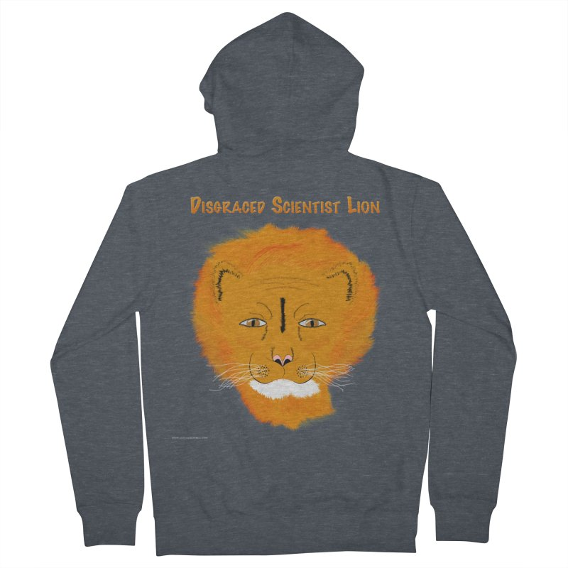 Disgraced Scientist Lion Men's French Terry Zip-Up Hoody by Every Drop's An Idea's Artist Shop