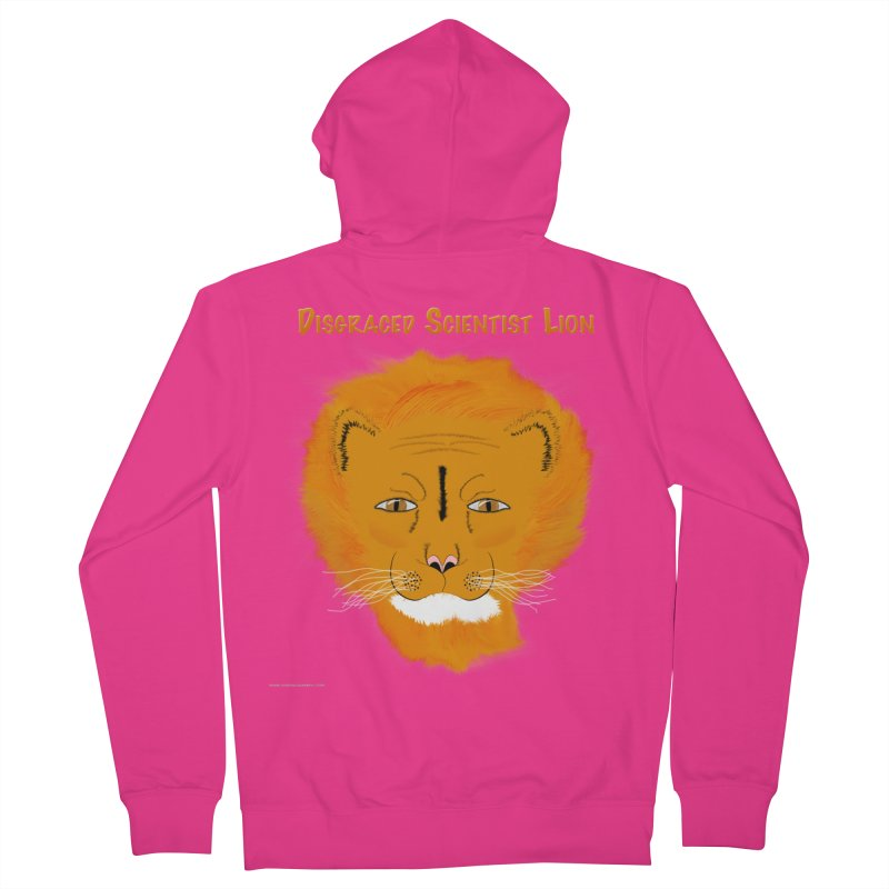 Disgraced Scientist Lion All Genders Zip-Up Hoody by Every Drop's An Idea's Artist Shop