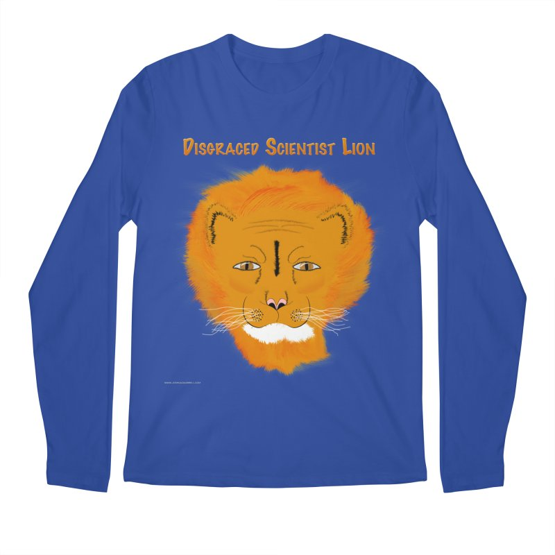 Disgraced Scientist Lion Men's Longsleeve T-Shirt by Every Drop's An Idea's Artist Shop