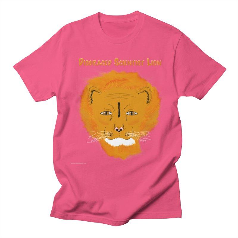 Disgraced Scientist Lion Women's Regular Unisex T-Shirt by Every Drop's An Idea's Artist Shop