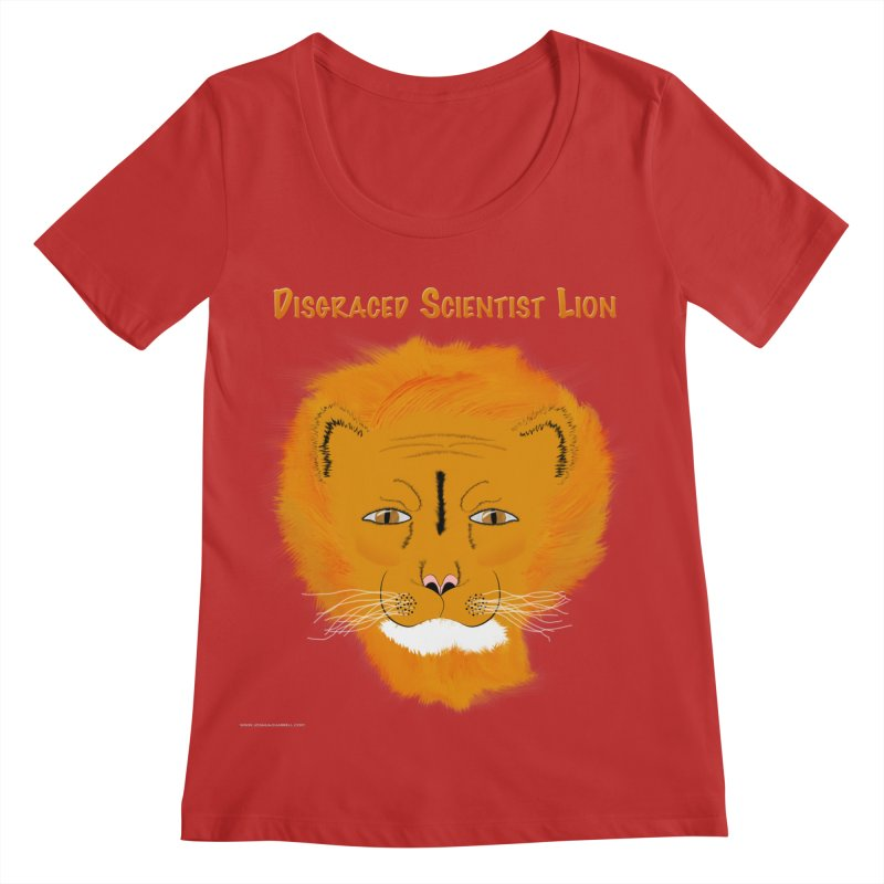Disgraced Scientist Lion Women's Scoop Neck by Every Drop's An Idea's Artist Shop